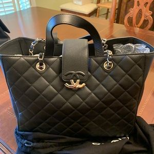 Authentic Chanel large shopping tote hard to find
